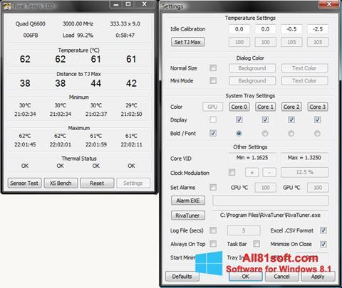 Captura de pantalla Real Temp para Windows 8.1