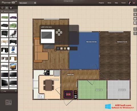 Captura de pantalla Planner 5D para Windows 8.1