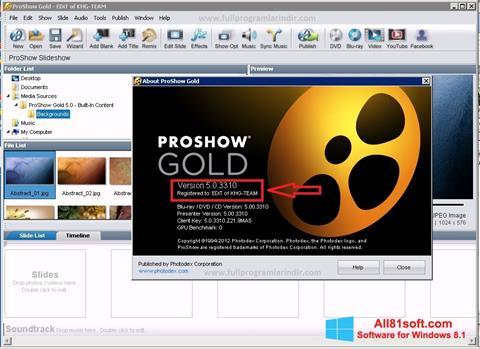 Captura de pantalla ProShow Gold para Windows 8.1