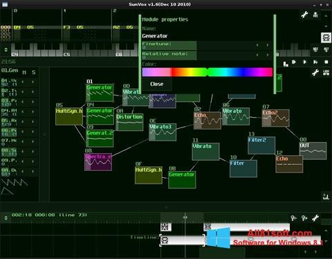 Captura de pantalla SunVox para Windows 8.1