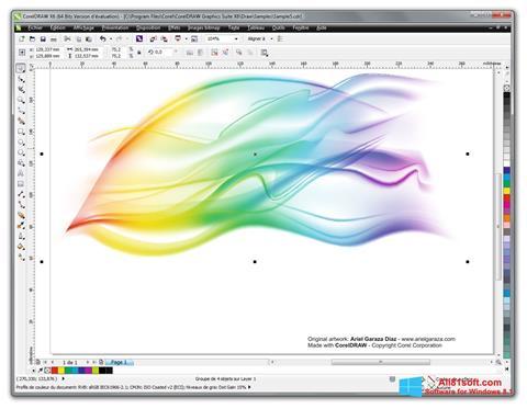 Captura de pantalla CorelDRAW para Windows 8.1
