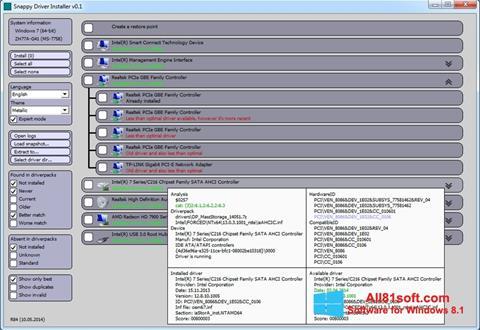 Captura de pantalla Snappy Driver Installer para Windows 8.1