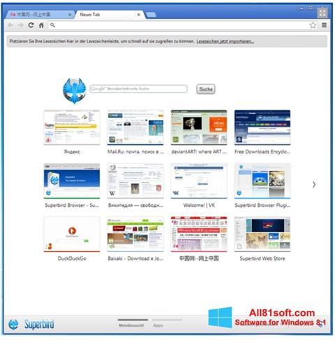 Captura de pantalla Superbird para Windows 8.1