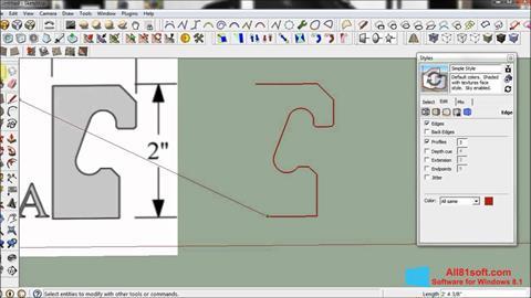 Captura de pantalla SketchUp para Windows 8.1