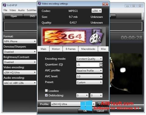 Captura de pantalla XviD4PSP para Windows 8.1