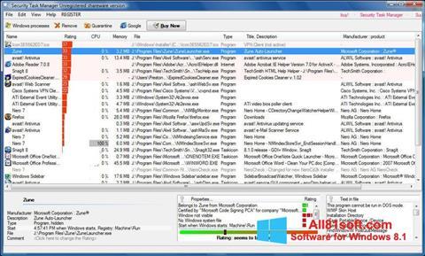 Captura de pantalla Security Task Manager para Windows 8.1