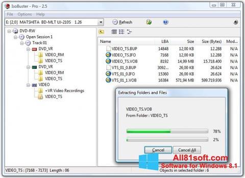 Captura de pantalla IsoBuster para Windows 8.1