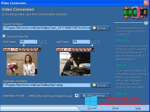 Captura de pantalla Active WebCam para Windows 8.1