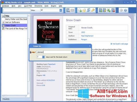 Captura de pantalla All My Books para Windows 8.1