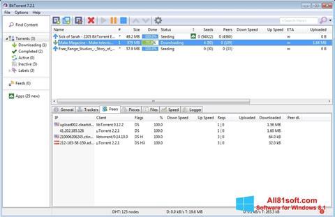 Captura de pantalla BitTorrent para Windows 8.1