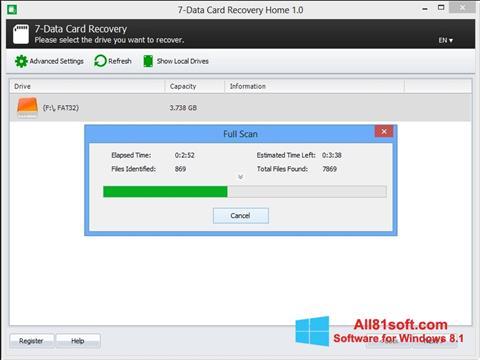 Captura de pantalla CardRecovery para Windows 8.1