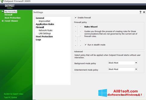 Captura de pantalla Outpost Firewall Free para Windows 8.1