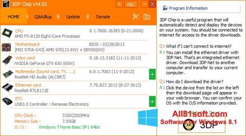 Captura de pantalla 3DP Net para Windows 8.1