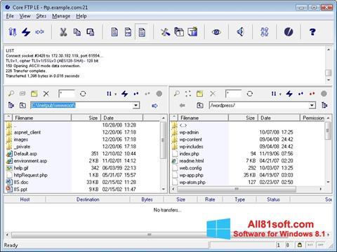 Captura de pantalla Core FTP para Windows 8.1