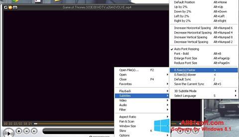 Captura de pantalla GOM Player para Windows 8.1