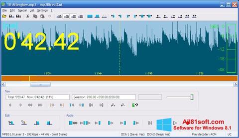 Captura de pantalla mp3DirectCut para Windows 8.1