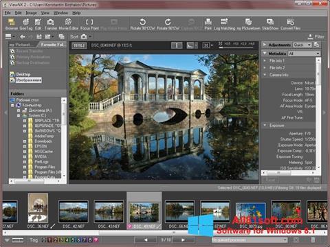 Captura de pantalla ViewNX para Windows 8.1