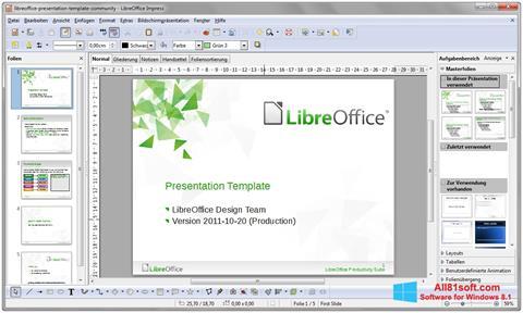 Captura de pantalla LibreOffice para Windows 8.1