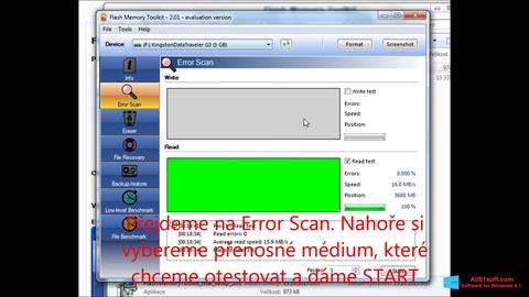 Captura de pantalla Flash Memory Toolkit para Windows 8.1