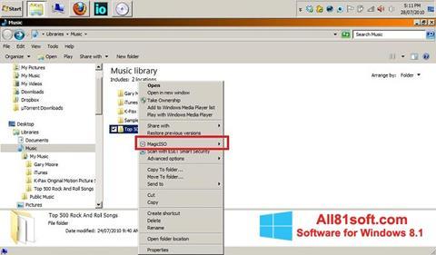 Captura de pantalla MagicISO para Windows 8.1