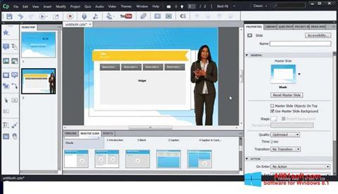 Captura de pantalla Adobe Captivate para Windows 8.1