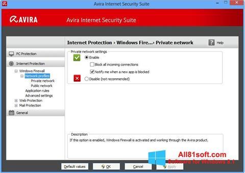 Captura de pantalla Avira Internet Security para Windows 8.1