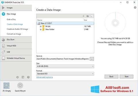 Captura de pantalla DAEMON Tools Lite para Windows 8.1