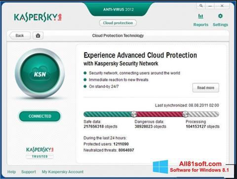 Captura de pantalla Kaspersky para Windows 8.1