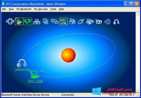 Captura de pantalla BlueSoleil para Windows 8.1