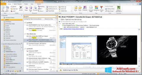 Captura de pantalla Microsoft Outlook para Windows 8.1