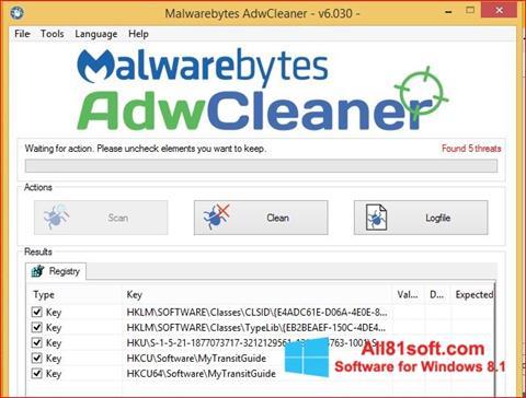 Captura de pantalla AdwCleaner para Windows 8.1