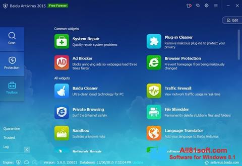 Captura de pantalla Baidu Antivirus para Windows 8.1