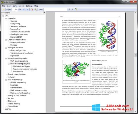 Captura de pantalla Sumatra PDF para Windows 8.1