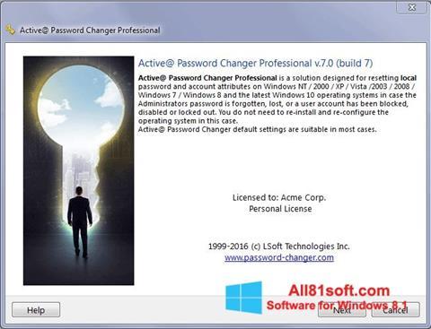 Captura de pantalla Active Password Changer para Windows 8.1