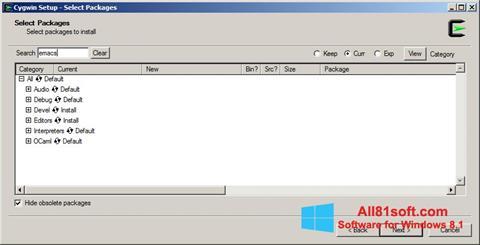 Captura de pantalla Cygwin para Windows 8.1