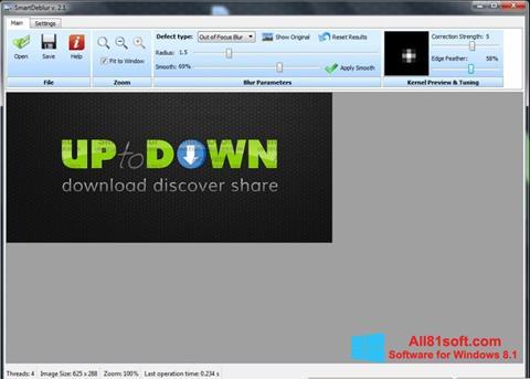 Captura de pantalla SmartDeblur para Windows 8.1