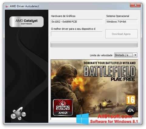 Captura de pantalla AMD Driver Autodetect para Windows 8.1