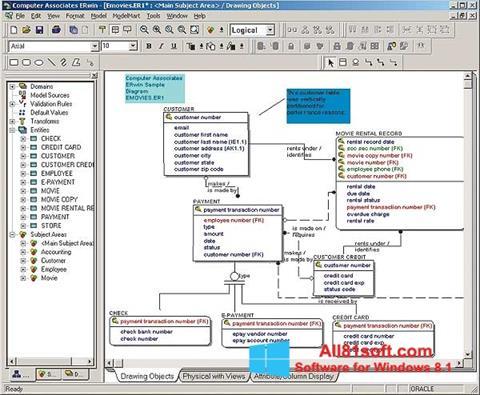 Captura de pantalla ERWin para Windows 8.1