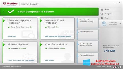 Captura de pantalla McAfee para Windows 8.1