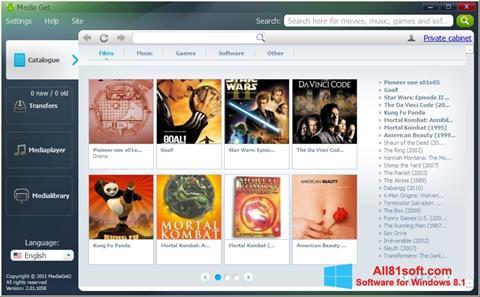 Captura de pantalla MediaGet para Windows 8.1