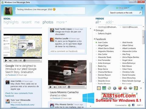 Captura de pantalla Windows Live Messenger para Windows 8.1