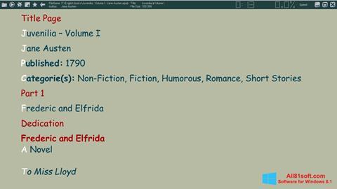 Captura de pantalla ICE Book Reader para Windows 8.1
