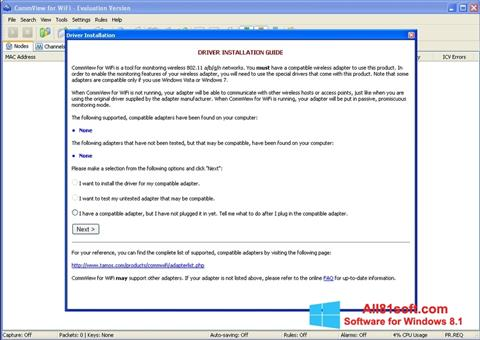 Captura de pantalla CommView for WiFi para Windows 8.1