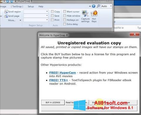 Captura de pantalla HyperSnap para Windows 8.1