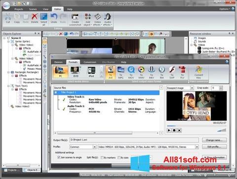 Captura de pantalla Free Video Editor para Windows 8.1