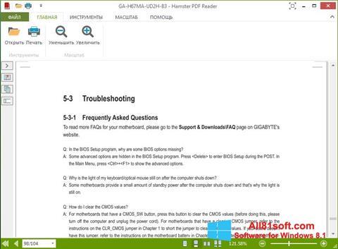 Captura de pantalla Hamster PDF Reader para Windows 8.1