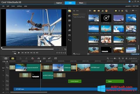 Captura de pantalla Corel VideoStudio para Windows 8.1