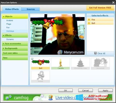 Captura de pantalla ManyCam para Windows 8.1