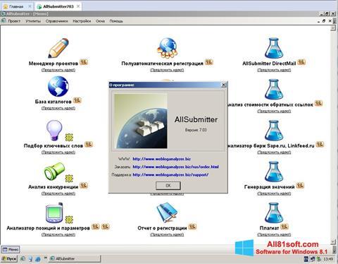 Captura de pantalla AllSubmitter para Windows 8.1
