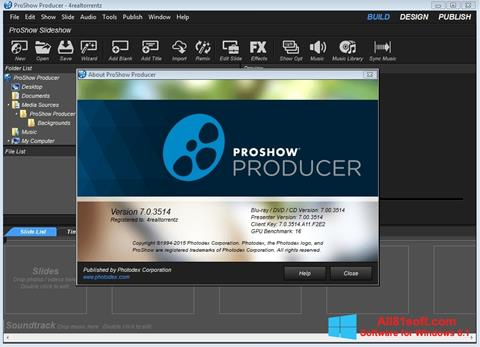 Captura de pantalla ProShow Producer para Windows 8.1